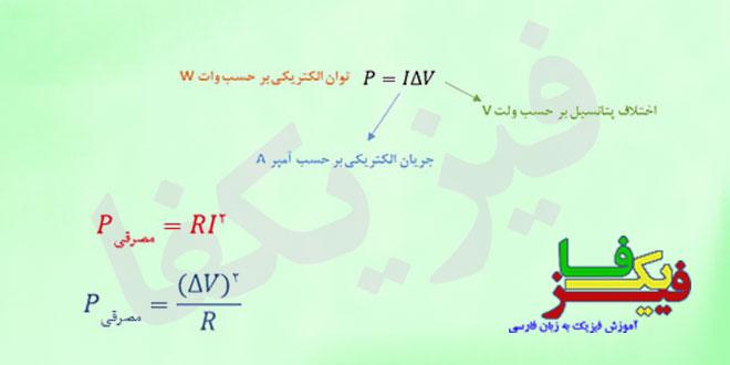 ph3 s3 jaryan tavan 0 توان الکتریکی مصرفی مقاومت