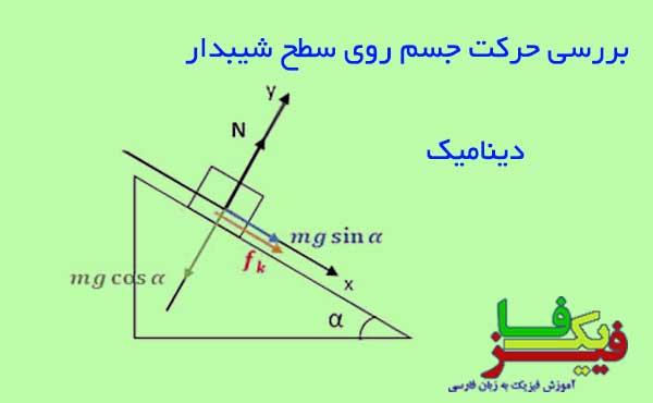 ph4 s2 dynamic shibdar 00 بررسی حرکت جسم روی سطح شیبدار