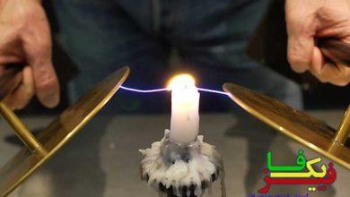 تاثیر میدان الکتریکی بر شعله