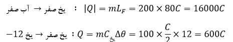 ph10 s4 garma phas 10 گرما و دمای تعادل با در نظر گرفتن تغییر حالت ماده