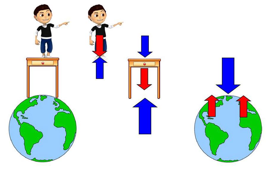 نیروی عمودی سطح و نیروی وزن